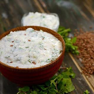 Flax Seed Raita ( Omega-3 Fatty Acids and Calcium Rich Recipe )