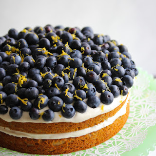 Lemon Blueberry Greek Yogurt Cake
