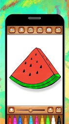 Fruits Coloring Book & Drawing Book - Kids Game APK screenshot thumbnail 14