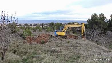 Photo: aanvang oprit uitgraven
