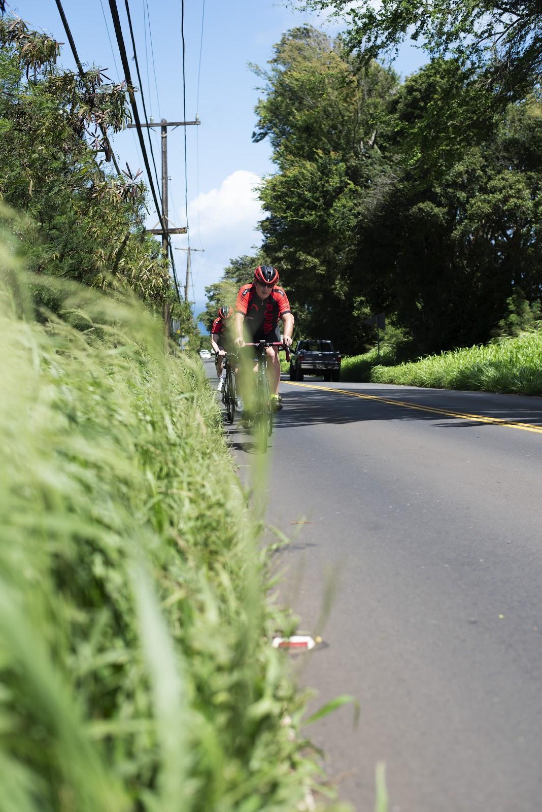Start of our Haleakala Volcano bike climb in Paia, Maui