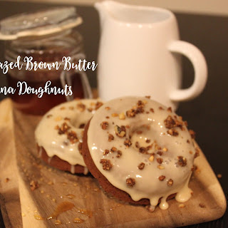 Baked Brown Butter Banana Doughnuts