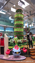 Photo: Back at Singapore Changi Airport, on our way to catch our LA flight, saw this Christmas(?) decoration.
