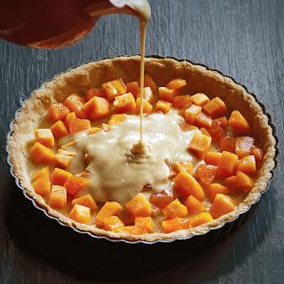 Persimmon Brown Butter Tart with Vanilla Cream