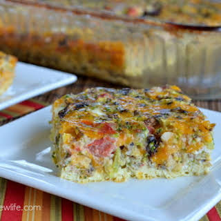 Egg And Cheese Casserole No Meat Recipes.