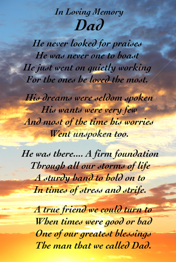 In Loving Memory... By Gerald Glaza   Typography Quotes U0026 Sentences ( Clouds