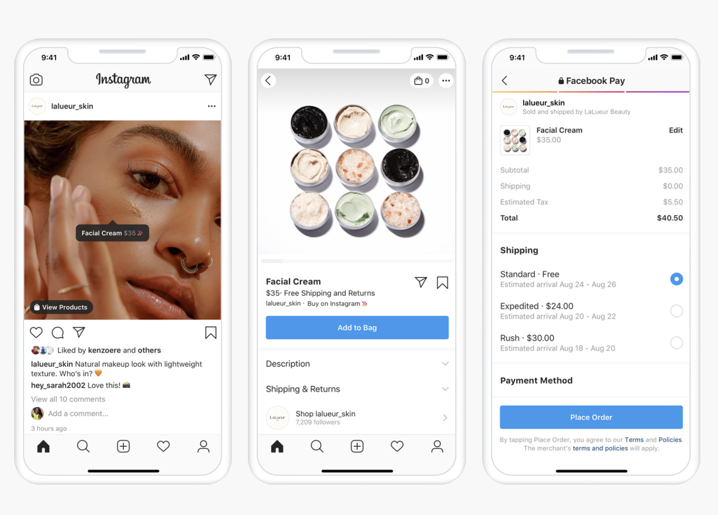 instagram checkout feature