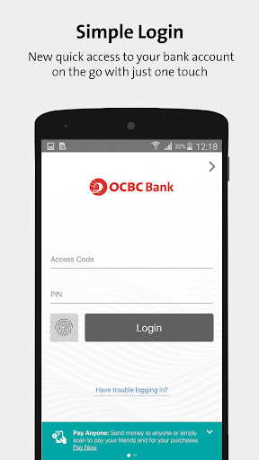 OCBC SG Mobile Banking  screenshots 1