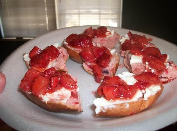 Strawberry Bagel Supreme