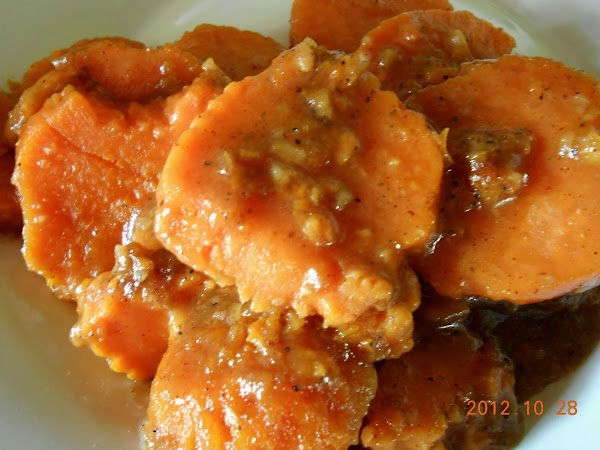 Healthier Choices Candied Sweet Potatoes Recipe