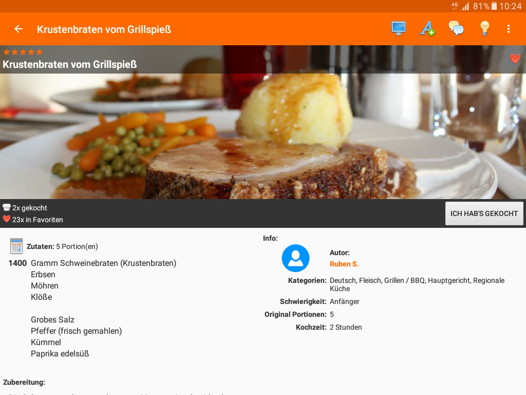 cooking4life - Rezepte Kochen- screenshot