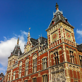 Amsterdam Centraal Station by Amanda Dacey - Buildings & Architecture Public & Historical ( amsterdam centraal station, noord-holland, holland, the netherlands, amsterdam )