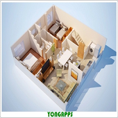 3D Small House Layout Design
