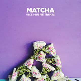 Matcha Rice Krispie Treats