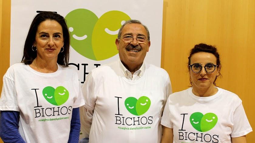 Delegada, presidente y gerente de Bioline presentaron la campaña