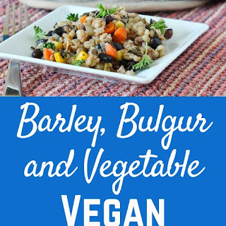 Barley, Bulgur and Vegetable Vegan Casserole.