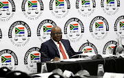 Former minister Advocate Ngoako Ramatlhodi during a break at the state capture inquiry where he is giving testimony.