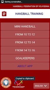 Handball training - HFV screenshot 1