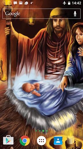 耶稣诞生活的墙纸