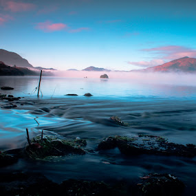 Beauty of pure nature by Aaron Fleming - Landscapes Weather ( canon, ireland, density, beauty, irish, 600d, colour, aperature, eos, mountains, nature, isolation, wonder, lonely, light, kit, killarney, co kerry, lake, neutral, lens, amazing, magic, fog, nd, magical, telephoto, filter, river, mist )