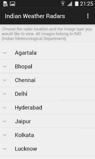 Indian Weather Radars