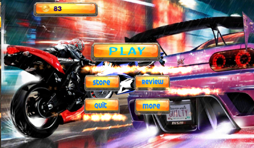 Fast Motorcycle Highway Rider