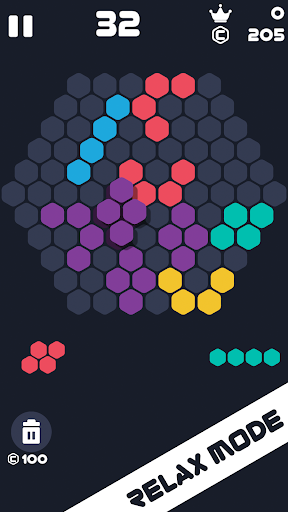 Hexa Mania Fill Hexagon Puzzle, Hex Block Blast 4.6 screenshots 2