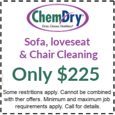 Sofa, loveseat, chair only 225 upholstery cleaning