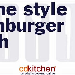 Home-Style Hamburger Hash.