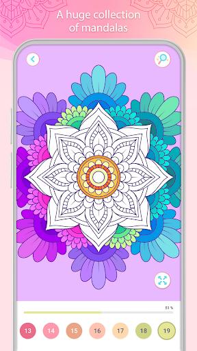 التلوين بالأرقام u2013 Mandala Book Screenshot 2