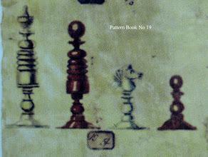 Photo: Bone Chessmen - No 19  Jaques 'Pattern Book'