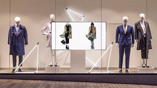 LCD advertising promotion display. Source: Pinterest. Retail Digital Signage - Rev Interactive