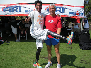 Photo: Rajesh Durbal - the world's first triple amputee to compete and finish the Hawaii Ironman. Explain to me - what's your excuse?!