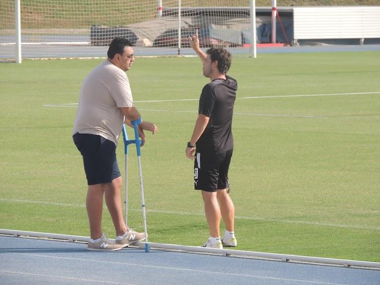 Rubi con Mohamed Adel.