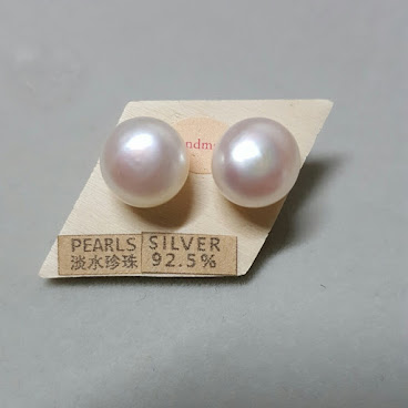 10.5~11mm Fresh Water Pearls Stud Earrings