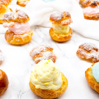 Easter Cream Puffs with Coconut Cream Filling.