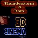 3D Cinema-Thunderstorm & Rain