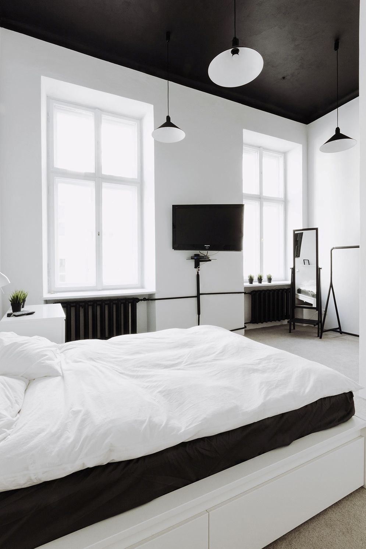 Black and White Bedroom Pendant Light Ideas