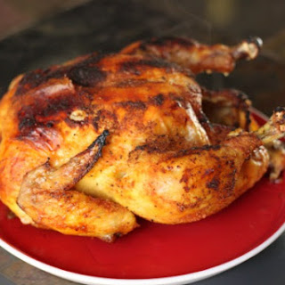 Roasted Whole Chicken with Delicious Dry Rub.