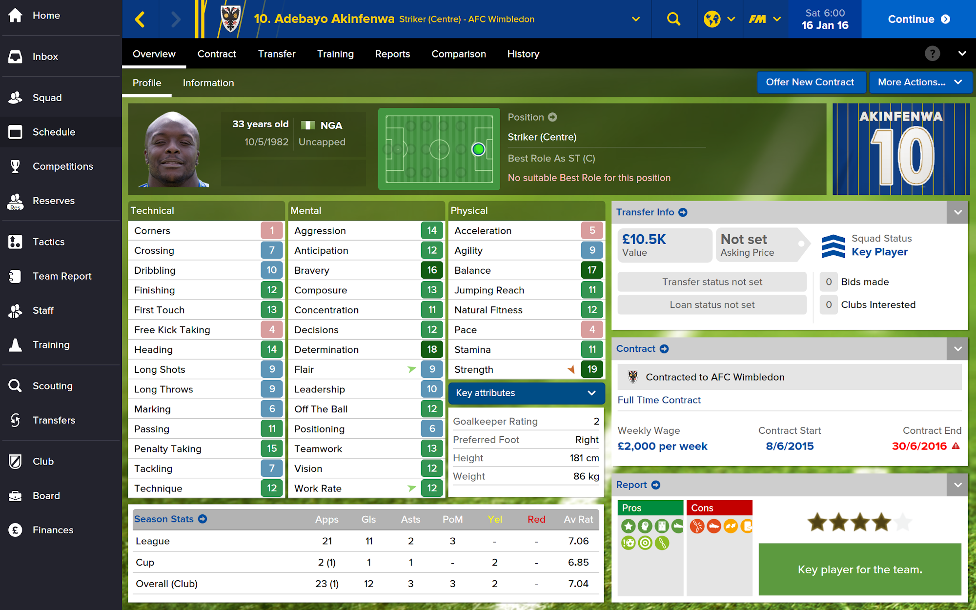 Football Manager Touch 2016 screenshot #6