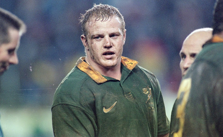 Robbie Kempson during the match between South Africa and England from Newland Stadium on July 04, 1998 in Cape Town, South Africa.