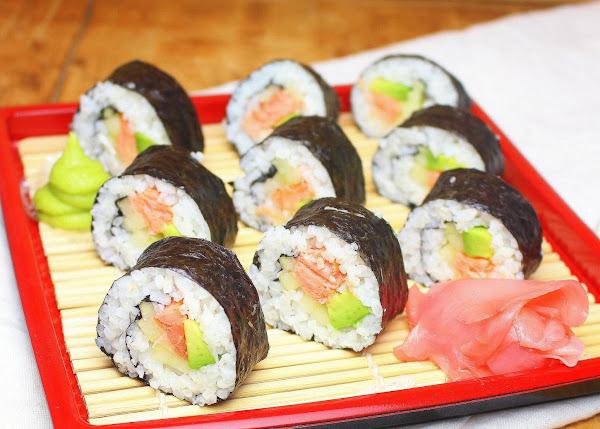 Smoked Salmon Sushi Roll Recipe
