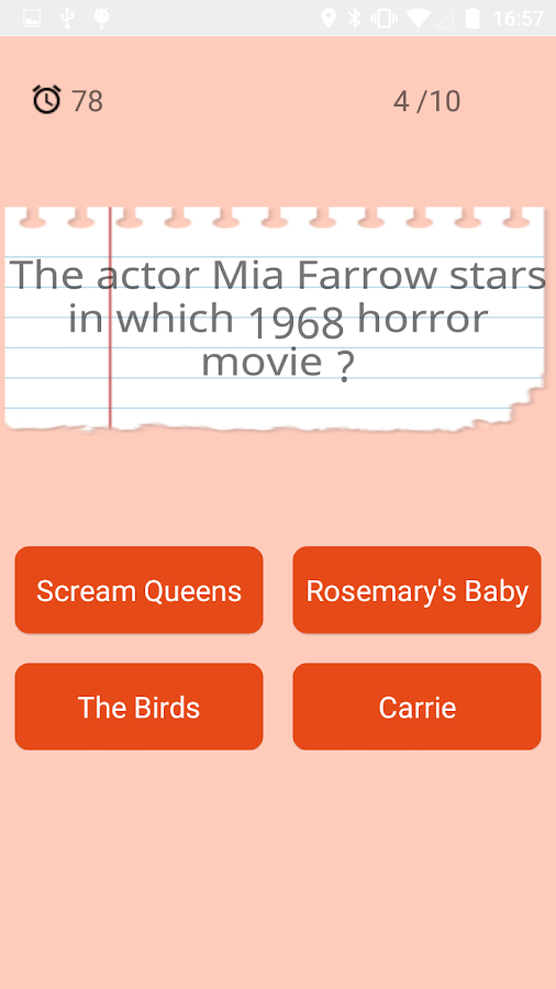 Halloween Trivia- screenshot