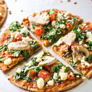 Spinach and Feta Pita Pizza.