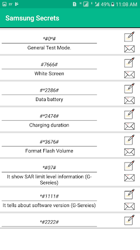 Secret Codes of Samsung Free: 2.3 screenshots 2