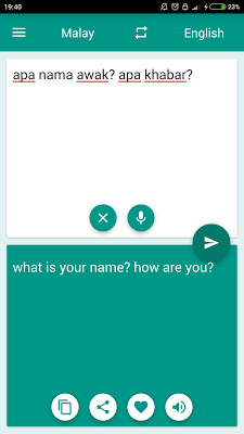 Malay-English Translator - screenshot