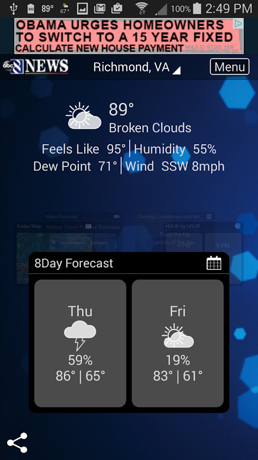 StormTracker - 8News weather- screenshot