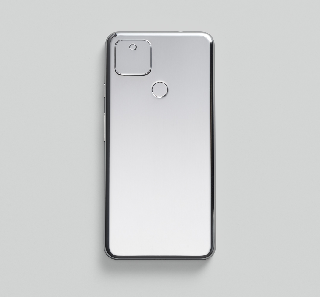 Image of the back of a Google Pixel 5 device