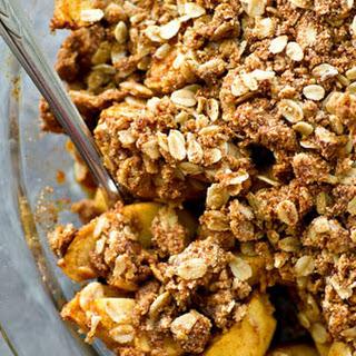 Peanut Butter Oatmeal Apple Crisp