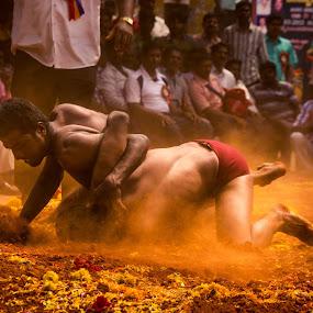 Kusti by Shashank Ramesh - People Street & Candids ( bangalore, mud, wrestling, fighting, india, men, kusti )